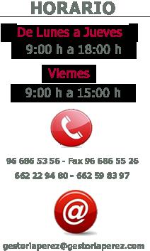 Horario Gestoria Perez del Albir
